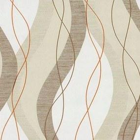 Vliesové tapety, vlnovky hnedé, Modern Line 1329520, P+S International, rozmer 10,05 m x 0,53 m