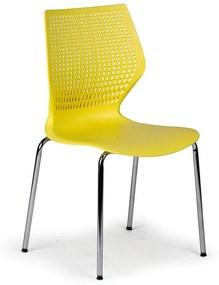 Jedálenská stolička Poly, žltá