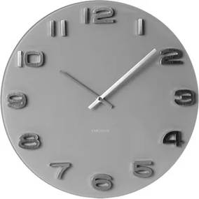 Karlsson Nástenné hodiny - Karlsson Vintage Grey Round, OE 35 cm