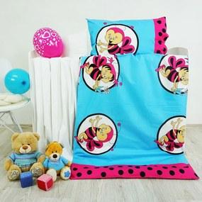 Obliečky detské bavlnené včielky ružové EMI