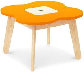 Oranžový detský stolík s úložným priestorom Timoore Simple Play