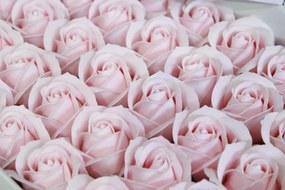 Lososové mydlové ruže 50ks 6cm