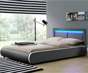 Čalúnená posteľ Murcia 180 x 200 cm - tmavošedá