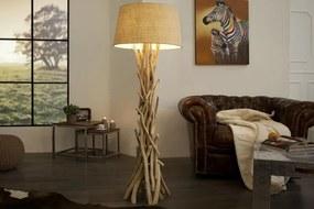 Masiv24 - Stojaca lampa CLARA 155 cm - prírodná