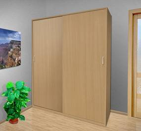 Nabytekmorava Šatníková skriňa s posuvnými dverami Alfa 26 farba lamina: buk 381