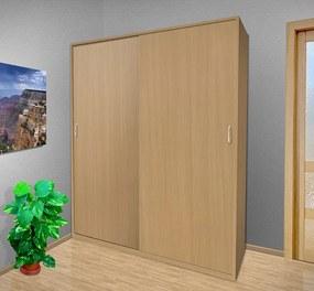 Nabytekmorava Šatníková skriňa s posuvnými dverami Alfa 26 farba lamina: čerešňa talianská (třešeň italská)