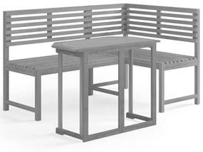 vidaXL 2-dielna bistro súprava masívne akáciové drevo sivá