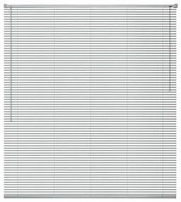 Okenné žalúzie, hliníkové, 120x130 cm, strieborné