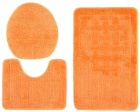 Kúpeľňové predložky 1039 oranžové 3Ks, Velikosti 50x80cm