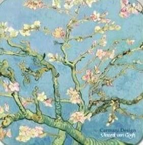 Korková podložka  Vincent van Gogh Kvitnúci mandľovník, CARMANI