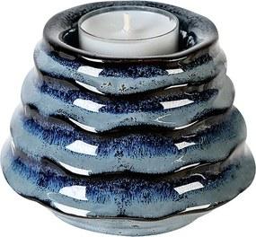 Čajový svietnik keramický Foggia, 10 cm, modrá