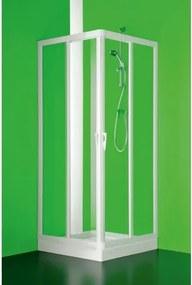 HOPA - Čtvercový a obdélníkový sprchový kout VELA - 185 cm, 80 cm × 80 cm, Univerzální, Plast bílý, Polystyrol (BSVEL8080P)