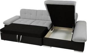 Moderná rohová sedačka Malaga, čierna Roh: Orientace rohu Levý roh