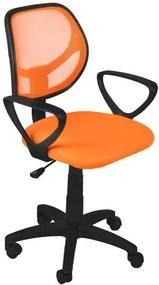 Malatec Kancelárska stolička Miko, oranžová, 2730