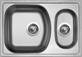 Kuchynský nerezový drez Sinks TWIN 620.1 V matný