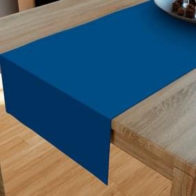 Goldea bavlnený behúň na stôl - kráľovsky modrý 20x160 cm