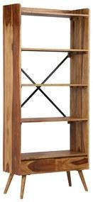 vidaXL Knižnica, masívne sheeshamové drevo 75x30x170 cm