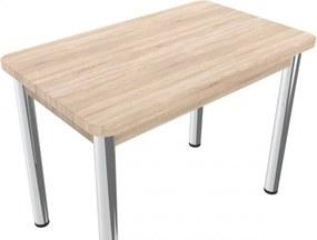 Jedálenský stôl 100 x 60 cm kovové nohy - 2 varianty dosiek - Dub Sonoma