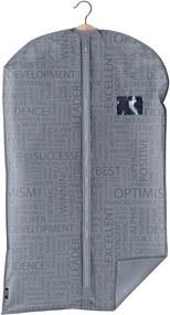 Sivý obal na oblek Domopak Urban