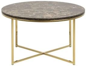 ALISMA ROUND GOLD konferenčný stolík Hnedá