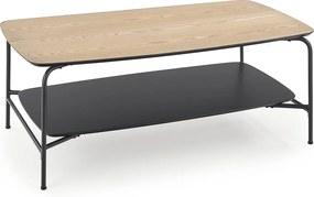 HALMAR Genua LAW2 príručný stolík prírodná / čierna
