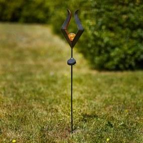 LED solárna zapichovacia lampa 48702 sklená guľka