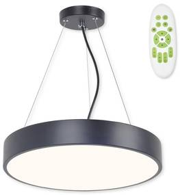 TOP LIGHT Top Light Metal 40CZ RC - LED Luster na lanku METAL LED/51W/230V + DO čierna TP1632