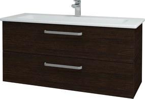 Dřevojas - Koupelnová skříň GIO SZZ2 120 - D08 Wenge / Úchytka T01 / D08 Wenge (130756A)