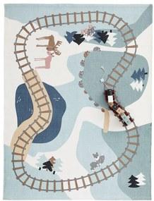 Kids Concept Dětský bavlněný koberec Edvin Woodland 170 x 130 cm