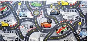 Vopi koberce Kusový koberec The World of Cars 97 šedý - 140x200 cm