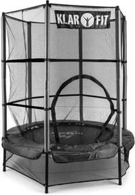 Klarfit Rocketkid, čierna, 140 cm, trampolína, vnútorná bezpečnostná sieť, bungee pružiny