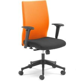 Kancelárska stolička MILTON s odnímateľným poťahom, oranžová / čierna