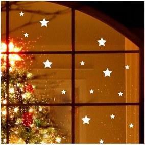 Elektrostatická vianočná samolepka Fanastick Bright White Stars