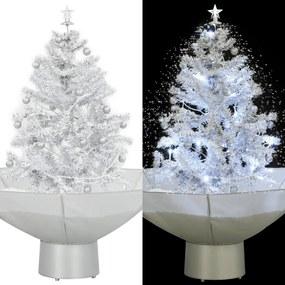 vidaXL Snežiaci vianočný stromček dáždnikovým podstavcom  biely 75 cm