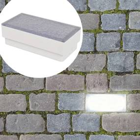 vidaXL Podlahové LED svietidlá, 6 ks, 100x200x68 mm