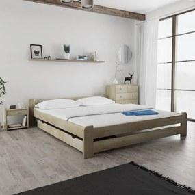 Maxi Drew Posteľ Emily 180 x 200 cm, borovica Rošt: s latkovým roštom, Matrac: 2 ks matracov Economy 10 cm