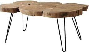 Sconto Konferenční stolek BOMBAY prírodný palisander/čierna