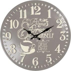 Kovové nástenné hodiny Coffee - Ø 40 cm / 1 * AA