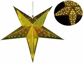 Marimex | Svietiaca hviezda 10 LED - zlatá | 18000165