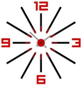 Mazur 3D nalepovacie hodiny Big Sheen čierno-červené