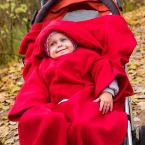 Deka s rukávmi pre deti Baby Wrapi Active - červená