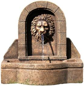 Záhradná fontána - fontána levia hlava 50 x 54 x 29 cm