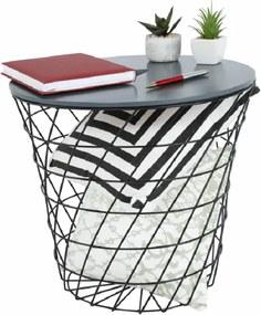 Príručný stolík, grafit/čierna, BATIS TYP 3