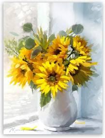 Obraz Styler Canvas Flowers Sunflowers, 60 × 80 cm