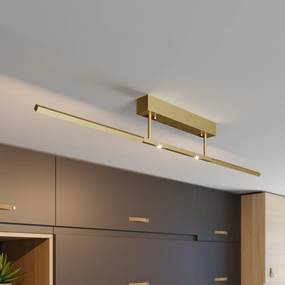 Lucande stropné LED svietidlo Tolu mosadz, 119cm