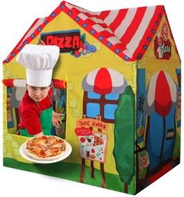 Dětský stan IPLAY Pizzerie žlutý