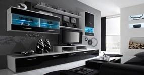 Alfa - obývacia stena (biela/čierna