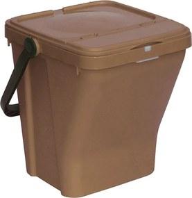 Plastové odpadkové koše ECOTOP II, hnedá