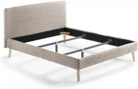 BELLA 160x200 béžová posteľ