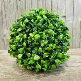 umelá buxusová gúľa zelená 18cm